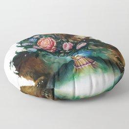 Flower & Bear Floor Pillow
