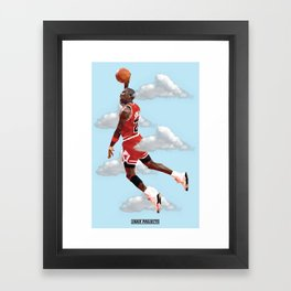 Micheal Jordan LowPoly Art Framed Art Print