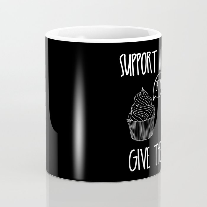 Support A Writer With Cake Coffee Mug