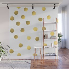 Painted spots of gold Wall Mural