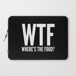 WTF Where's The Food (Black & White) Laptop Sleeve