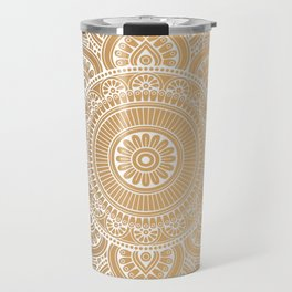 Gold Mandala 3 Travel Mug