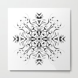 Four Thorn Mandala Metal Print