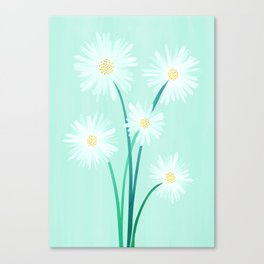 Mint Wildflower Bouquet Canvas Print