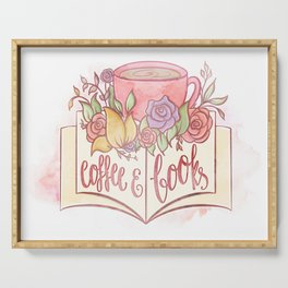 COFFEE & BOOKS Serving Tray