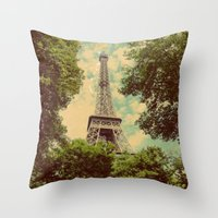 postcard Throw Pillows featuring Postcard by Emma.B