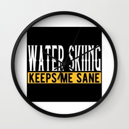 Waterski Lover Gift Idea Design Motif Wall Clock