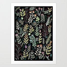 Dark Botanic Art Print