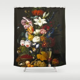 Severin Roesen - Victorian Bouquet Shower Curtain