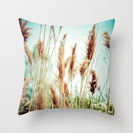 High Grass Throw Pillow