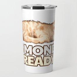 Lazy Cat - Monday Blues Travel Mug