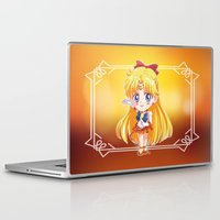 sailor venus Laptop & iPad Skins featuring Chibi Sailor Venus by Neo Crystal Tokyo