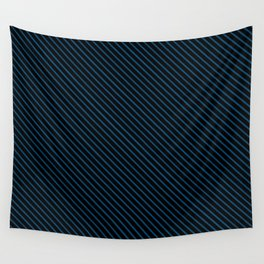Snorkel Blue and Black Stripe Wall Tapestry