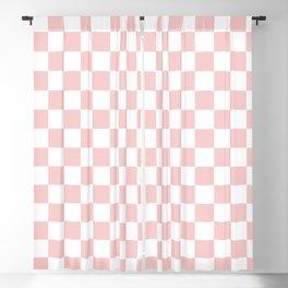 Gingham Pink Blush Rose Quartz Checked Pattern Blackout Curtain