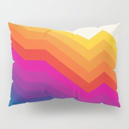 Seventies rainbow stripes Pillow Sham