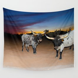 Bulls Night Out Wall Tapestry