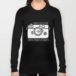 I Spend a Lot of Time Taking Photos of Books - Inverted Long Sleeve T-shirt