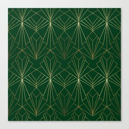 Art Deco in Gold & Green Canvas Print