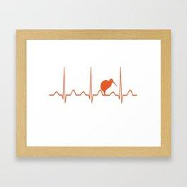 NEW ZEALAND HEARTBEAT Framed Art Print