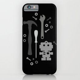 Techie Tools - black and grey iPhone Case