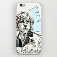 les mis iPhone & iPod Skins featuring Enjolras Les Mis Poster by Pruoviare