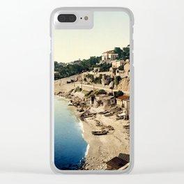 Beach at Marseille, France, ca. 1895 Clear iPhone Case