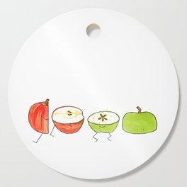 Apple Halves Cutting Board