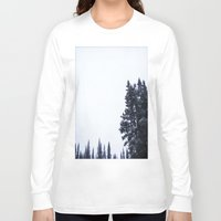 skiing Long Sleeve T-shirts featuring Skiing Copper by Amelia Vilona