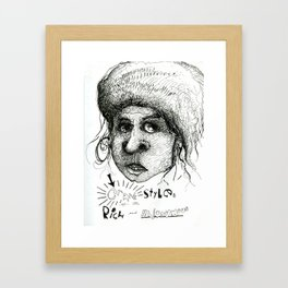 Crank Styles of the Rich and Anonymous. Framed Art Print