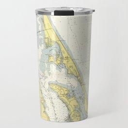 Vintage Map of The Outer Banks (1942) Travel Mug