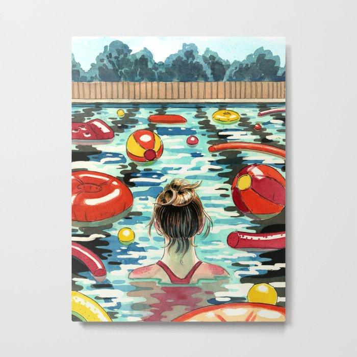 Pooling Metal Print