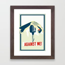 Against me! fan art Framed Art Print