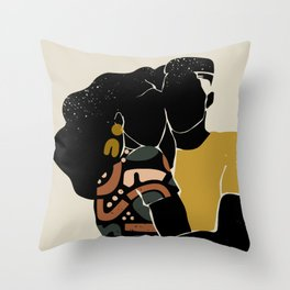 Black Hair No. 10 Throw Pillow