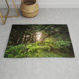 The Light Within - Beauty in the Washington Rain Forest Rug