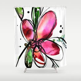 Ecstasy Bloom 9 by Kathy Morton Stanion Shower Curtain