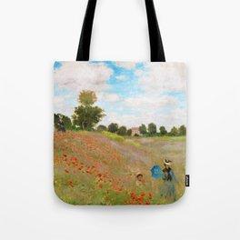 12,000pixel-500dpi - Claude Monet - Poppy Field - Digital Remastered Edition Tote Bag