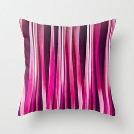 Burgundy Rose Stripy Lines Pattern Throw Pillow