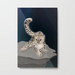 Ghost Leopard Metal Print