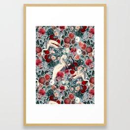 FLORAL AND BIRDS XIV Framed Art Print
