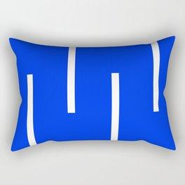 Abstract Minimal Retro Stripes Blue Rectangular Pillow