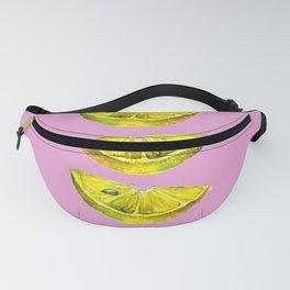 Lemon Slices Pink Fanny Pack