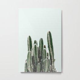 Blue Sky Cactus Metal Print