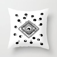 cycling Throw Pillows featuring Contingency Cycling by Night Version