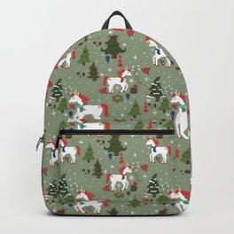Christmas Winter Unicorn Pattern Backpack