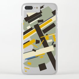 Geometric Abstract Malevic #10 Clear iPhone Case