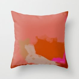 Double soul one body Throw Pillow