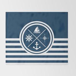 Sailing symbols Throw Blanket