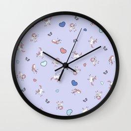 Sylveon Lilac Print Wall Clock