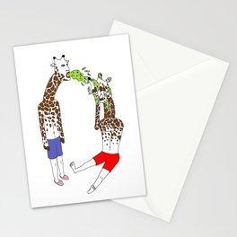 giraffe boyz Stationery Cards