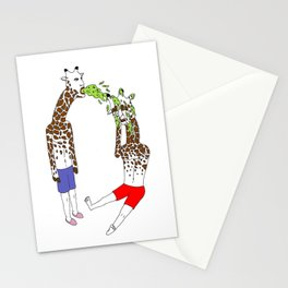 giraffe boyz Stationery Cards